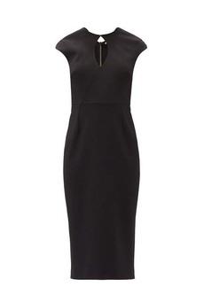Roland Mouret Chiswell keyhole-neckline crepe midi dress