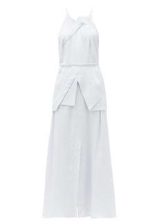 Roland Mouret Chora hammered silk-satin dress