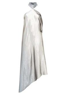 Roland Mouret Copernicus halterneck silk-blend lamé dress