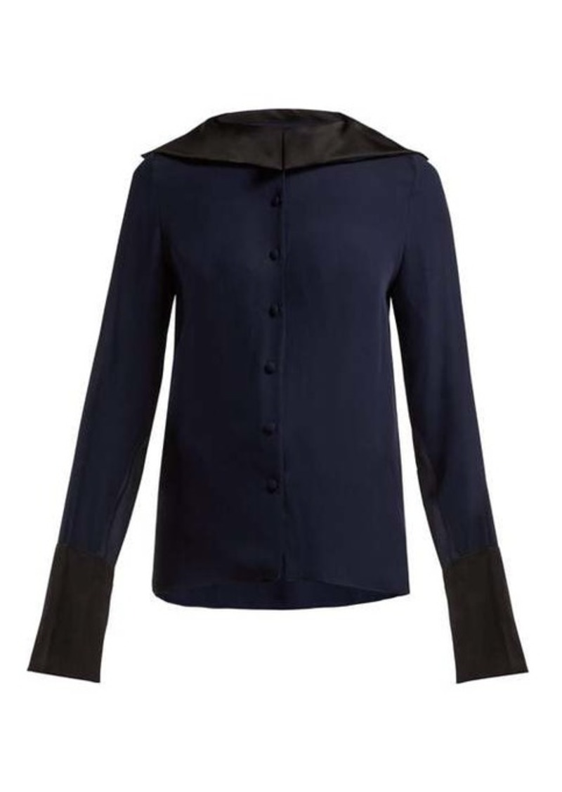 Roland Mouret Demois silk-georgette blouse