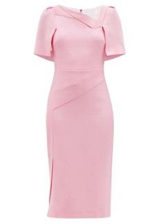 Roland Mouret Fenton cape-back wool-crepe pencil dress