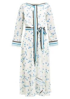 Roland Mouret Fernandina floral-print seersucker-crepe dress