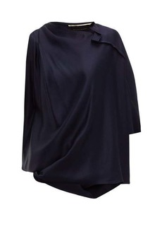 Roland Mouret Hopkins asymmetric satin blouse