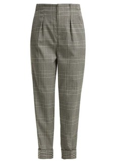 Roland Mouret Horley checked wool-blend trousers