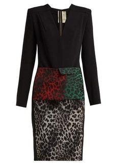 Roland Mouret Jalore leopard-print cady dress