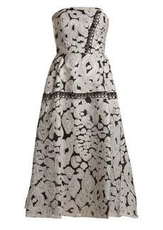 Roland Mouret Lydney leopard-brocade dress