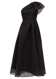 Roland Mouret Ostuni one-shoulder silk-blend organza dress