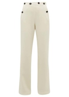 Roland Mouret Palmetto wool-crepe wide-leg trousers