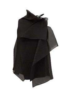 Roland Mouret Pasha chevron-embossed silk-blend organza blouse