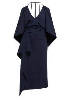 Roland Mouret Vincent draped crepe dress