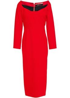 Roland Mouret Woman Ardon Stretch-crepe Midi Dress Tomato Red