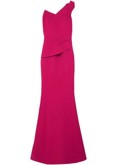 Roland Mouret Woman Azul One-shoulder Wool-crepe Gown Pink