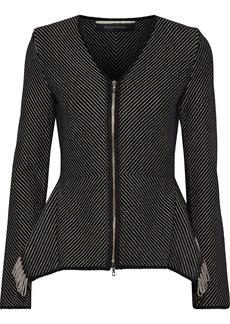 Roland Mouret Woman Brannon Fringed Knitted Jacket Black