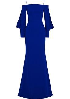Roland Mouret Woman Fimber Cold-shoulder Crepe Gown Blue