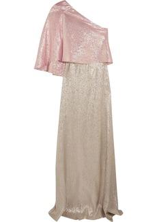 Roland Mouret Woman Harrington One-shoulder Silk-blend Lamé Gown Gold