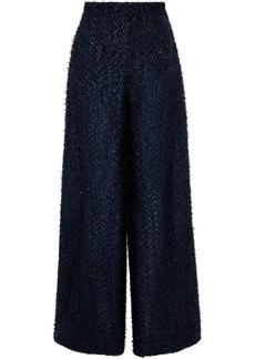 Roland Mouret Woman Harrison Fil Coupé Wide-leg Pants Black