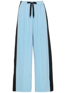Roland Mouret Woman Haven Striped Plissé-crepe Wide-leg Pants Light Blue