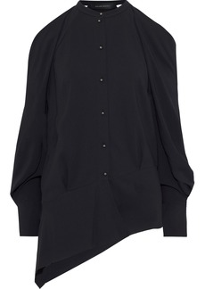 Roland Mouret Woman Haynes Cold-shoulder Crepe Top Black