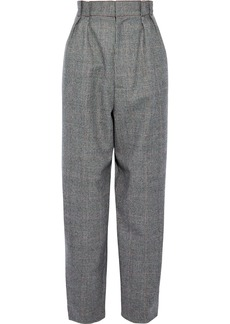 Roland Mouret Woman Henson Prince Of Wales Checked Wool Straight-leg Pants Anthracite