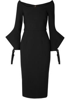 Roland Mouret Woman Hitchcock Off-the-shoulder Crepe Dress Black