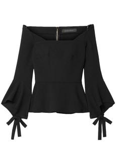 Roland Mouret Woman Holden Off-the-shoulder Stretch-crepe Top Black