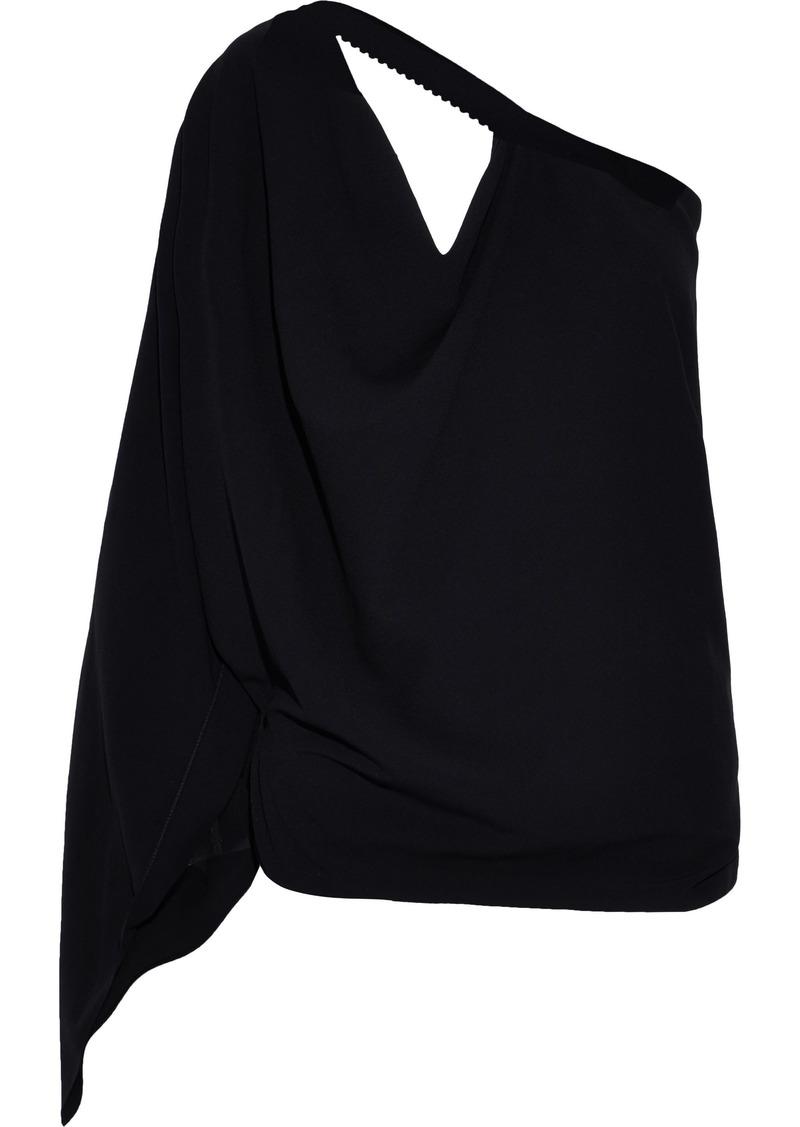 Roland Mouret Woman Kara One-shoulder Cutout Crepe Top Black