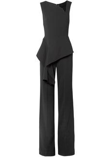 Roland Mouret Woman Keene Draped Crepe Wide-leg Jumpsuit Black