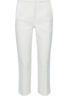Roland Mouret Woman Mimosa Cropped Cotton-blend Piqué Slim-leg Pants White