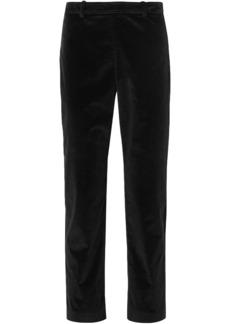 Roland Mouret Woman Pearson Stretch-corduroy Skinny Pants Black