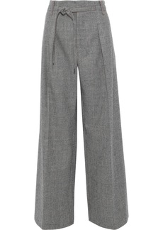 Roland Mouret Woman Woodcourt Prince Of Wales Checked Wool Wide-leg Pants Gray