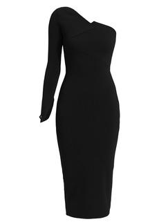 Roland Mouret Roseberry One-Shoulder Midi Dress