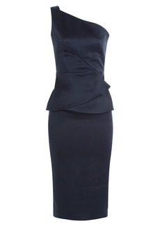 Roland Mouret Satin Dress with Peplum