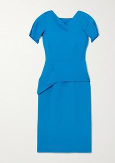 Roland Mouret Vernon Draped Wool-crepe Dress