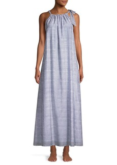 Roller Rabbit Capellini Silk-Blend Tied Maxi Dress