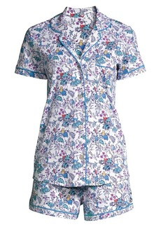 Roller Rabbit Charle & Friends 2-Piece Floral Pajama Set
