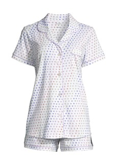 Roller Rabbit Disco Hearts 2-Piece Short-Sleeve Polo & Shorts Set