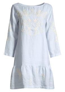 Roller Rabbit Ebonie Linen Drop-Waist Dress