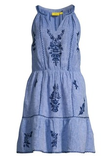 Roller Rabbit Filomena Embroidered Fit & Flare Dress