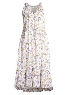 Roller Rabbit Odelle Floral Lace Drawstring Midi Dress
