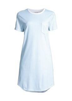 Roller Rabbit Pinstripe Sleepwear T-Shirt Dress