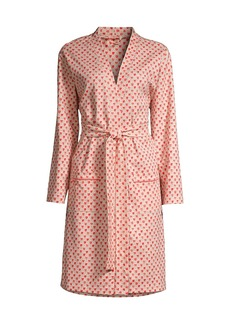 Roller Rabbit Quilted Hearts Belted Cotton Robe