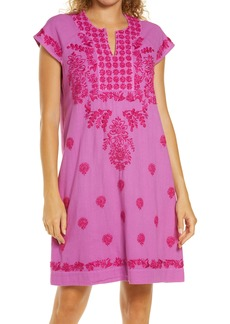 Roller Rabbit Faith Embroidered Cotton Cover-Up Dress