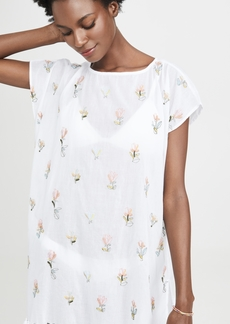Roller Rabbit Floral Embroidered Nama Tunic
