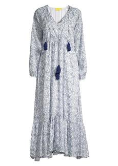 Roller Rabbit Royal Denmark Olaya Printed Cotton Peasant Dress