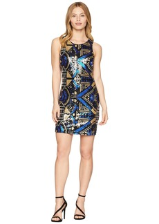 Romeo & Juliet Couture Abstract Pattern Sequin Dress