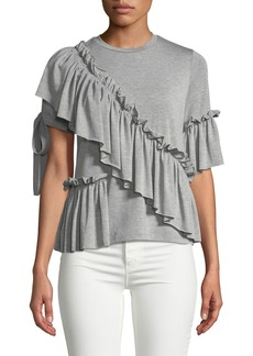 Romeo & Juliet Couture Asymmetric Ruffled Tee