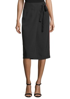 Romeo & Juliet Couture Athleisure Striped Wrap Skirt