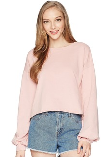 Romeo & Juliet Couture Balloon Sleeve Cropped Sweatshirt