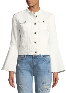 Romeo & Juliet Couture Bell-Sleeve Denim Jacket