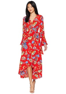 Romeo & Juliet Couture Bell Sleeve Wrap Maxi Dress